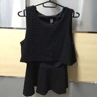 Forever 21 Formal Peplum Top Size M