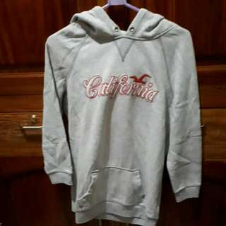 AUTHENTIC Hollister Grey Hoodie With Logo US Size XL