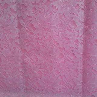 Renda Brukat Soft Pink 2mtr = 55000