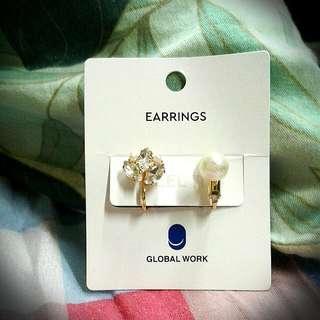Global Work 耳夾耳環