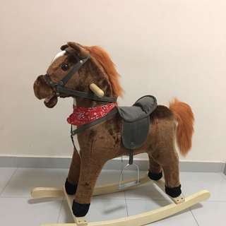 Rocking Horse with Music Songs and Gallop Sound, Tail and Mouth Can Move