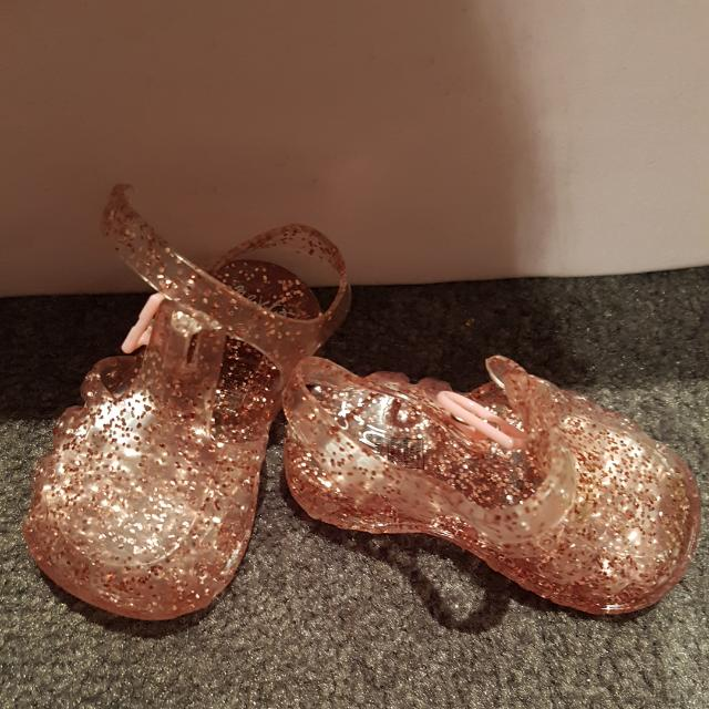 3 -6 Months Mini Pink Glitter Shoes