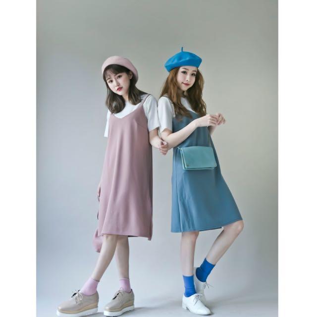 兩件式春氛洋裝(全新藍色)