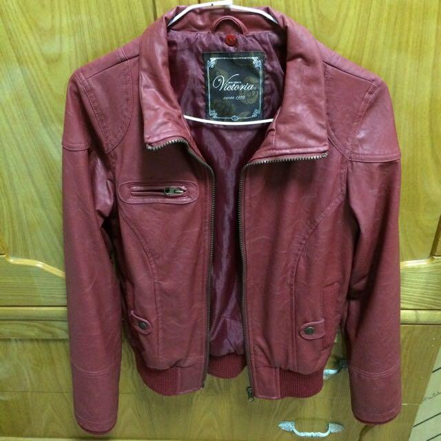 紅色 皮外套 Bigtrain 皮衣
