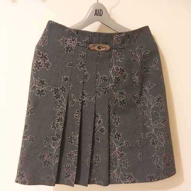 中國風 百褶裙 裙子 混搭風