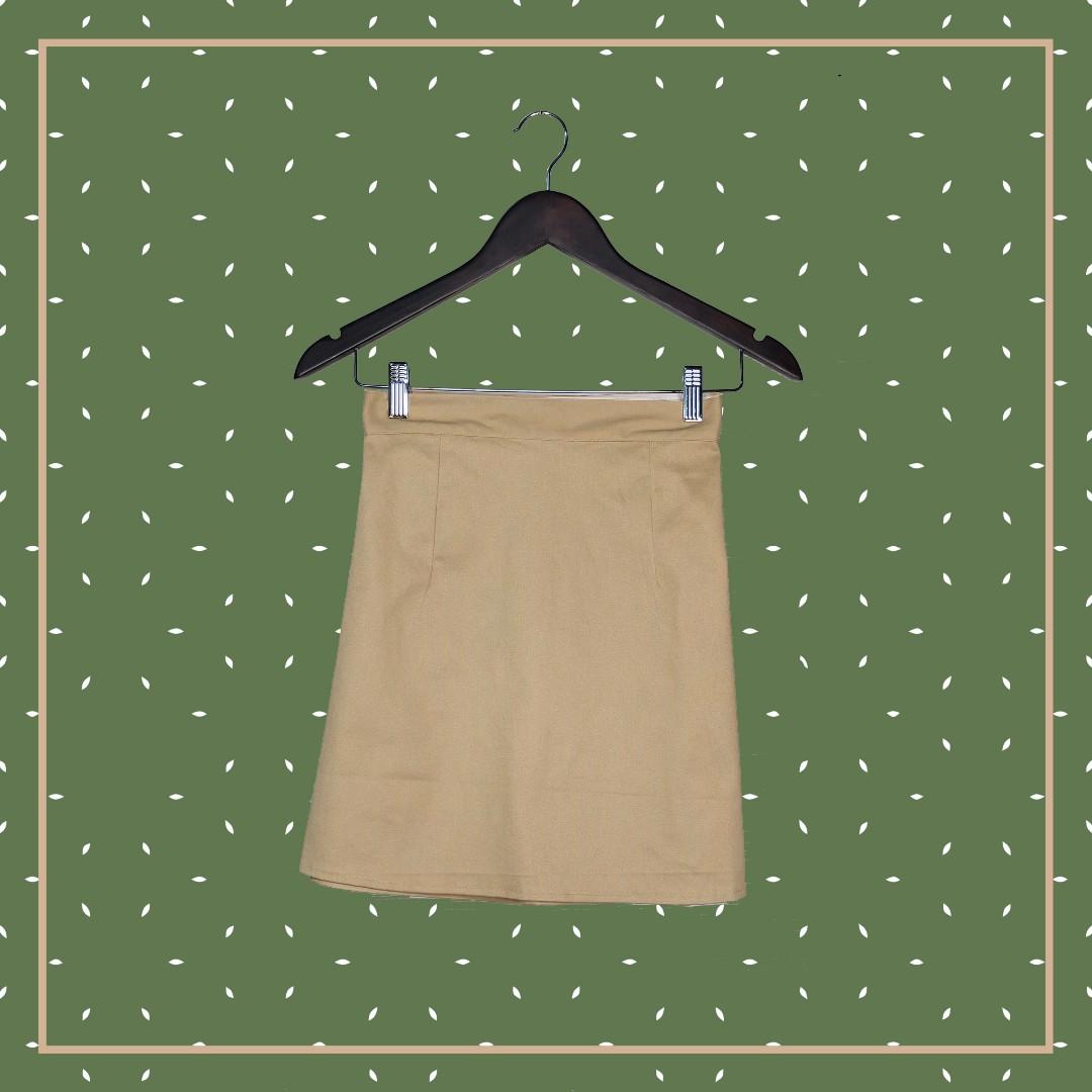 A Line Skirt (Khaki)