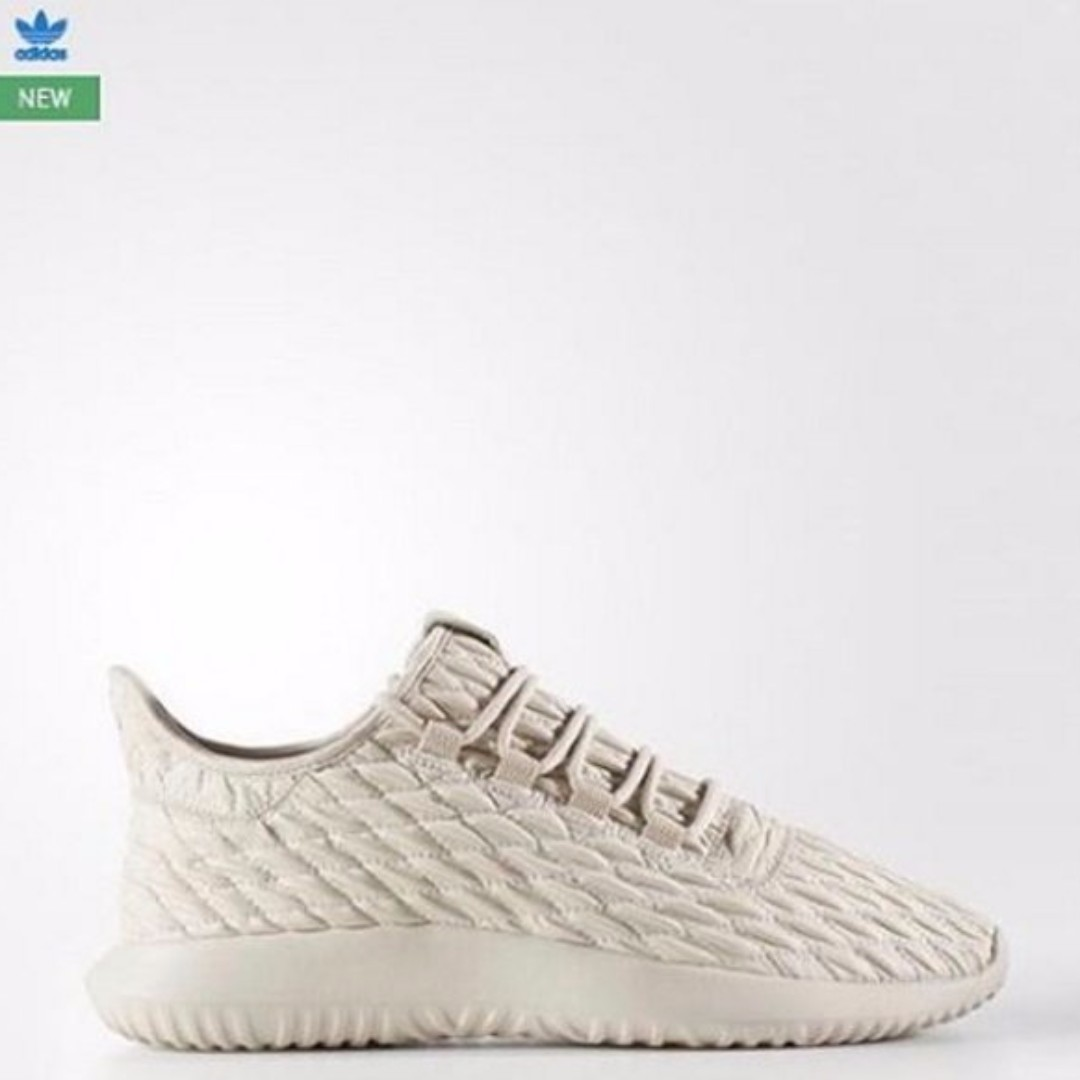 Adidas Tubular Shadow 小牛皮革編織限量款 米色 24/38 現貨