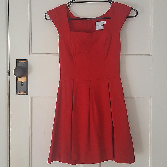 ASOS Petite Red Dress Size 10UK