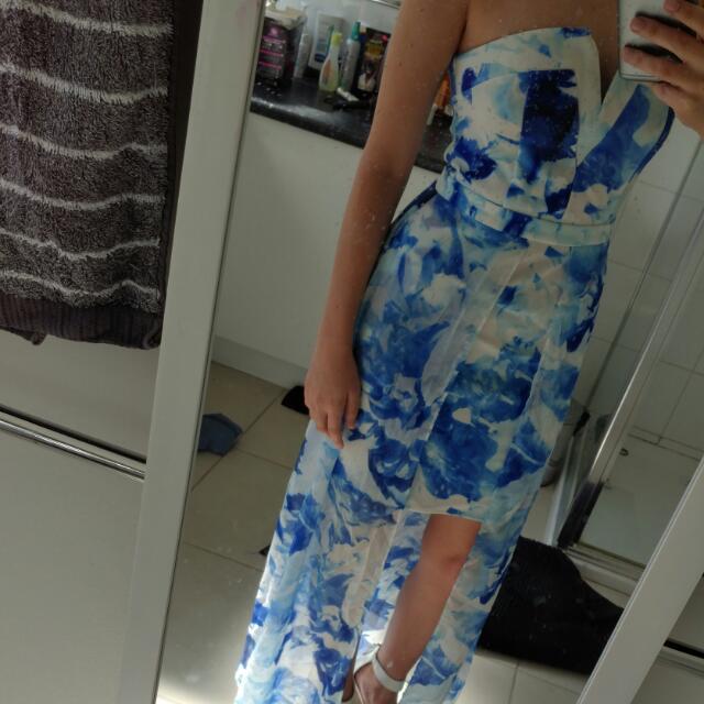 Blue Grecian Style Dress Size 8