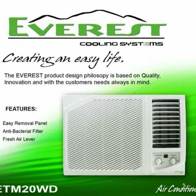 brand new everest 1 0hp window type aircon remote with timer home rh ph carousell com