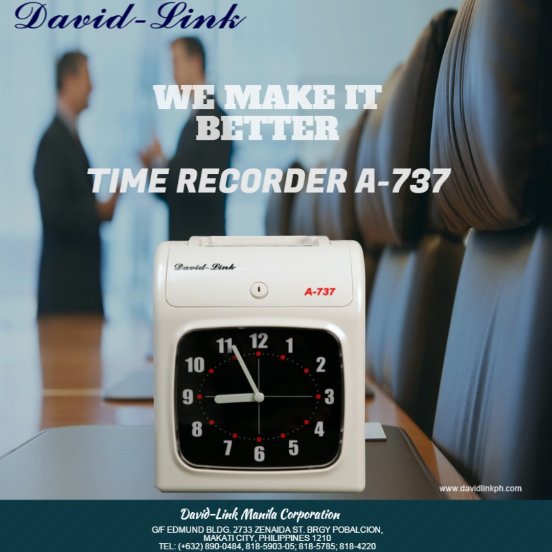 Bundy clock - Electronic Time Recorder A737 DavidLink