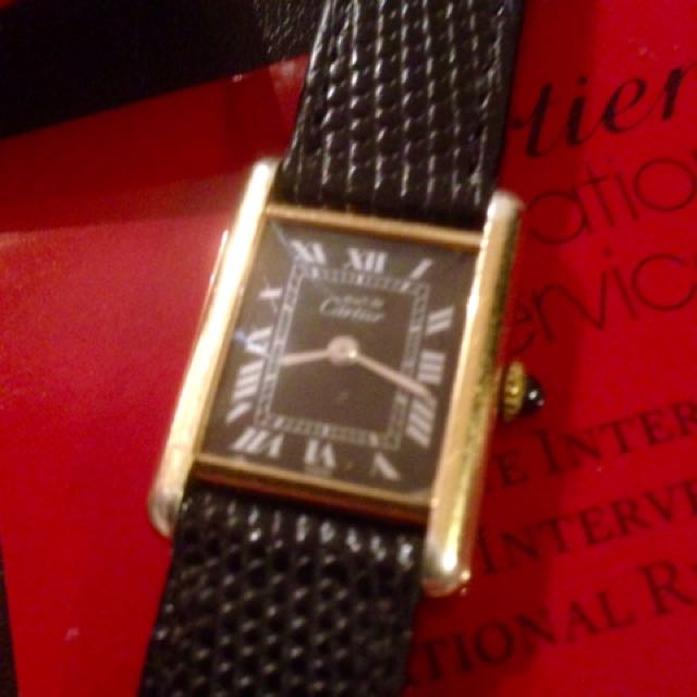 Cartier Must De Tank Lady Watch