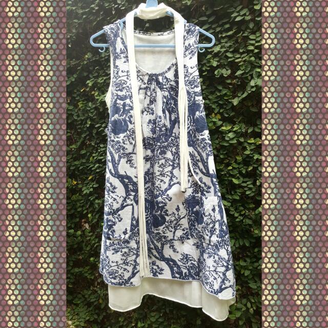 Casual Dress Floral Blue
