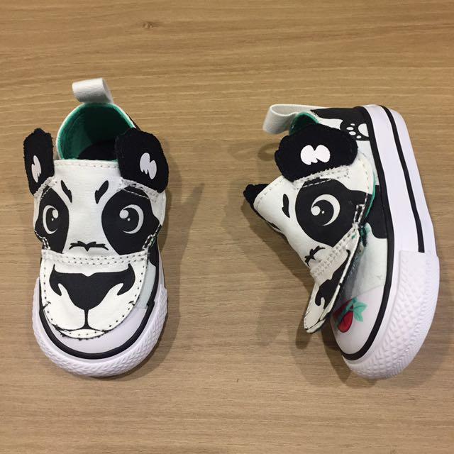 converse 熊貓 帆布鞋 卡通 黑 白 全新保證正品