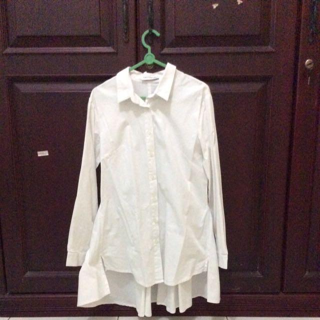cotton ink - white shirt dress