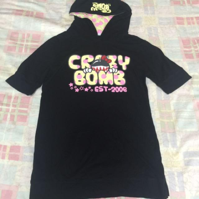 Crazybomb 黑帽T