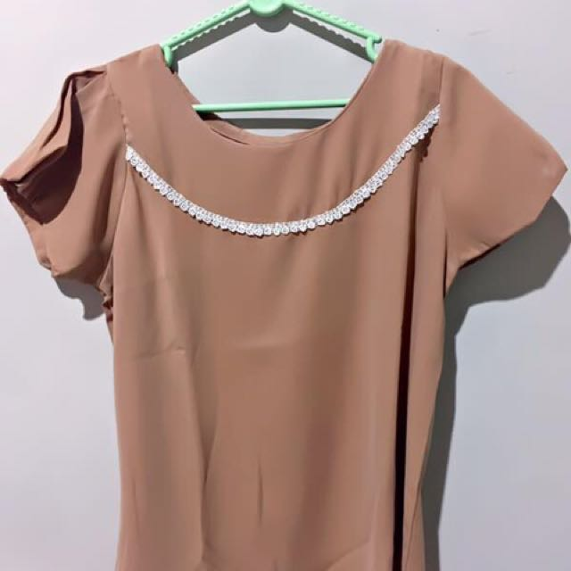 Cream / Brown Blouse