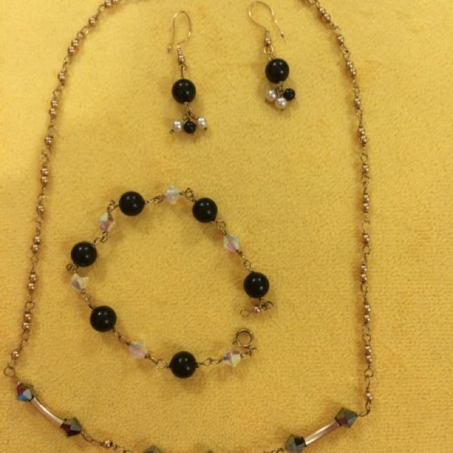 Earrings, Bracelet & Necklace