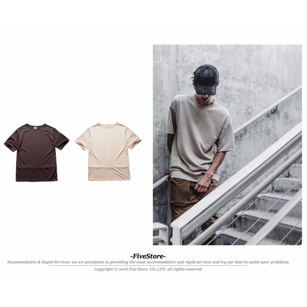 【F46】高端拼接T恤  短袖 內搭 春夏 必備