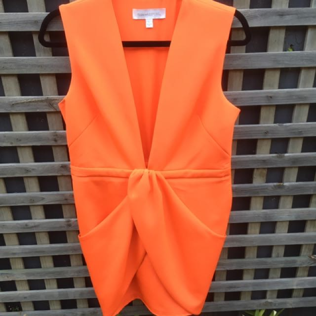 Finders Keepers Size L Orange Dress