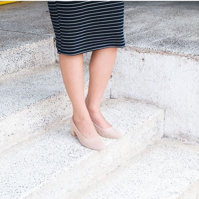 Flat Shoes High Heels Pump Nude Color size 38 Sepatu Wanita