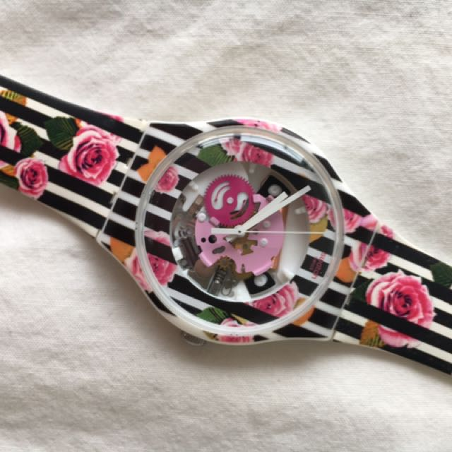 Floral, Water-Resistant Watch