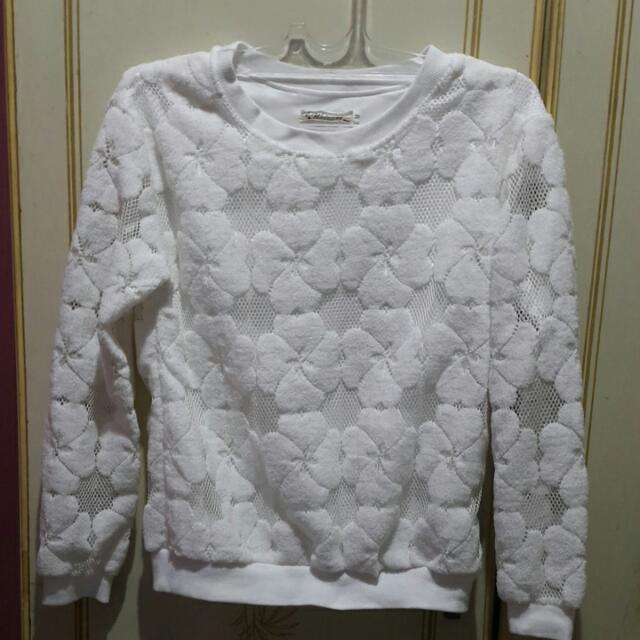 Flowery Lace Sweater