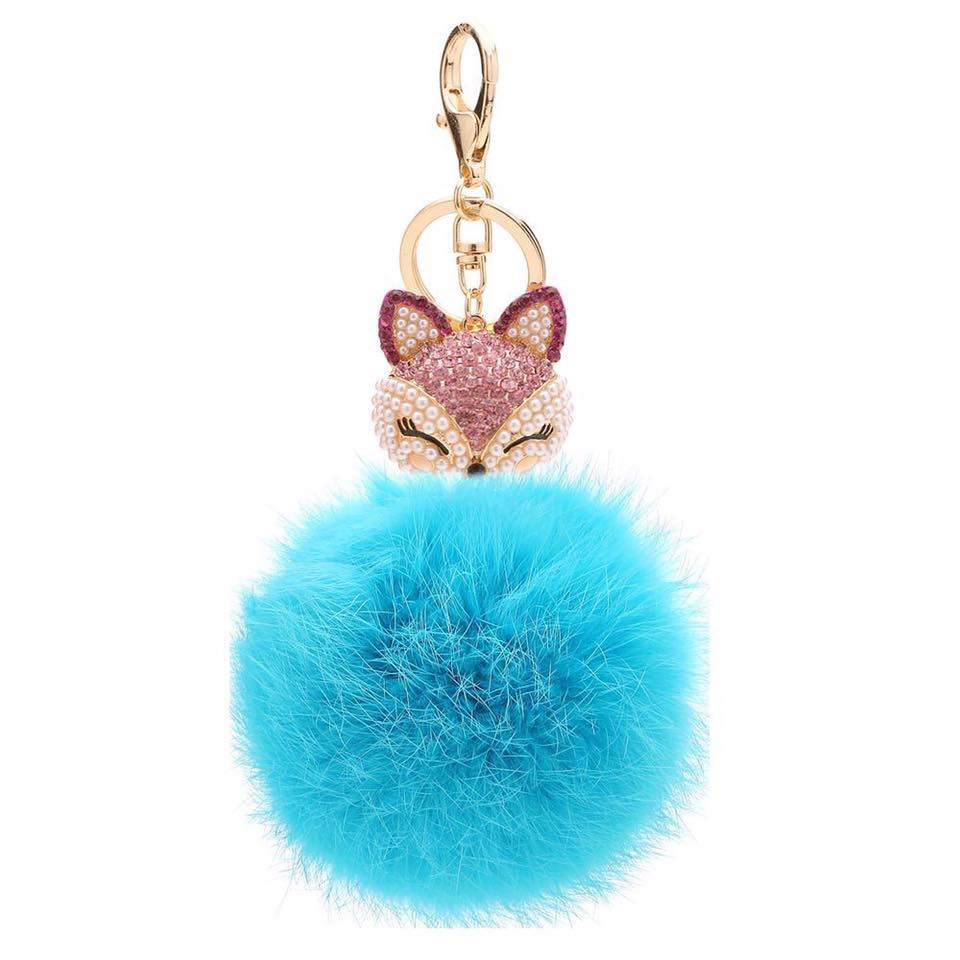 Fox with Fur bag charm