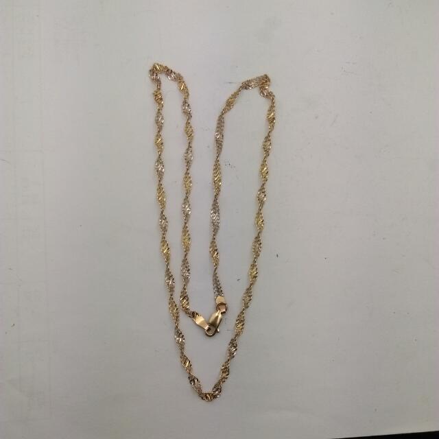 Genuine 9CT Two Tone Gold Chain