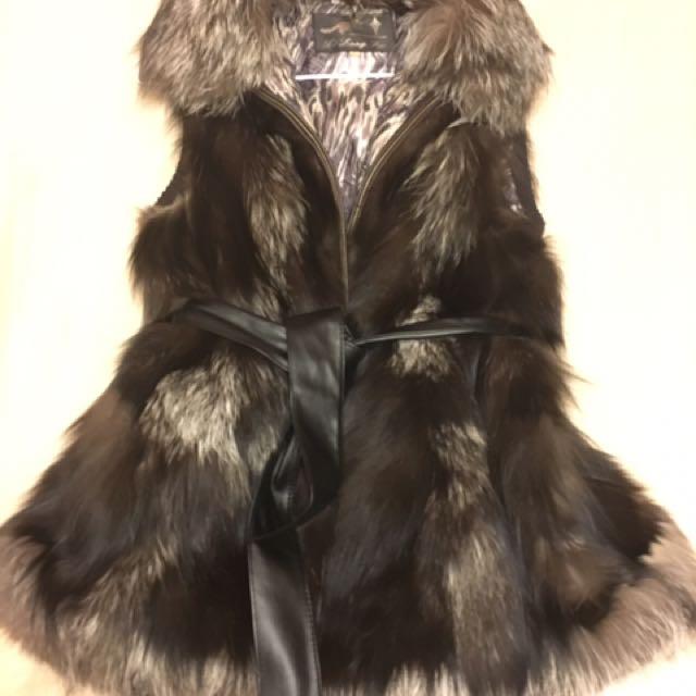 Genuine Fox Fur Vest