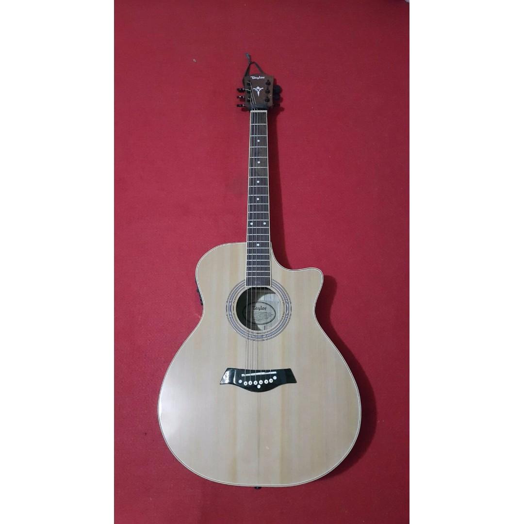 Gitar Akustik Elektrik Taylor Natural Murah Bandung Musik Media Alat Di Carousell