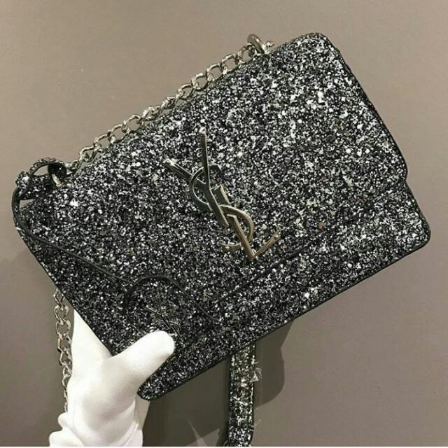 1cd743865fc GLITTER YSL SLING BAG NEW, Women s Fashion, Bags   Wallets on Carousell