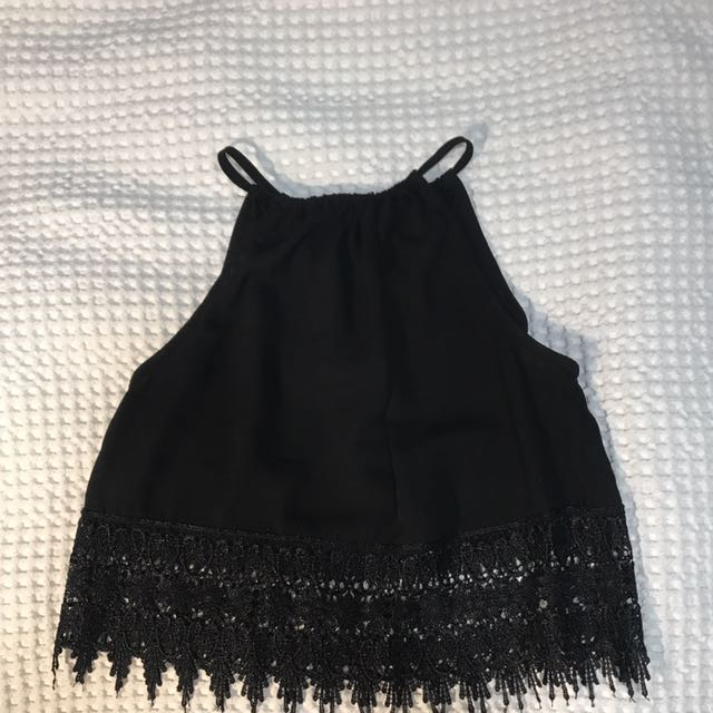 Halter Neck Lace Crop