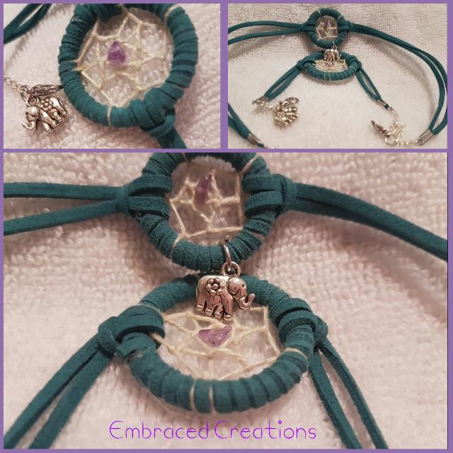 Hand-Made Dreamcatcher Bracelet And Choker Set