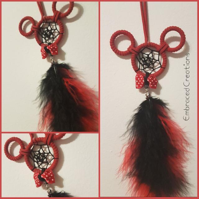 Hand-Made Red Mickey Dreamcatcher
