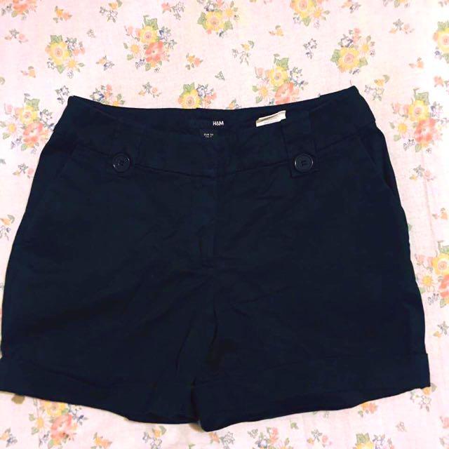 H&M Black Shorts