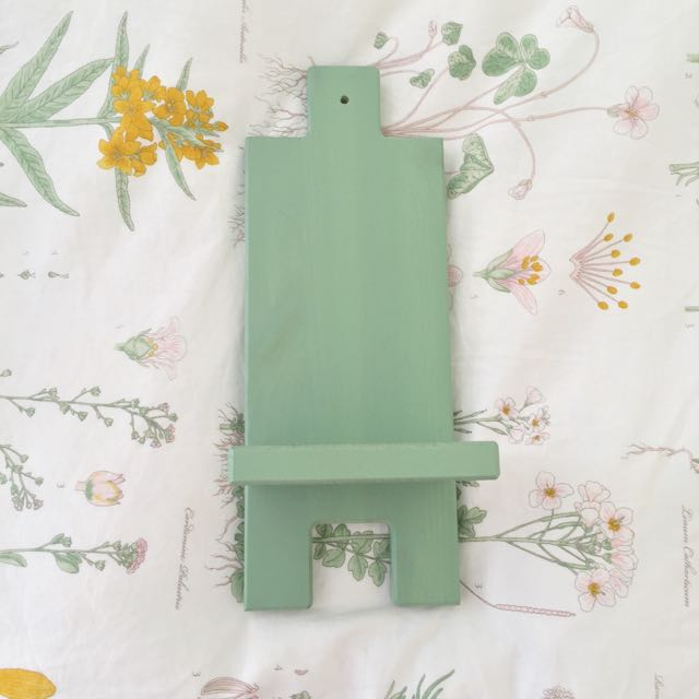 IKEA mini Shelf Green Candle Holder Display Decor