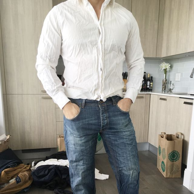 Italian Made Slimfit White dress shirt
