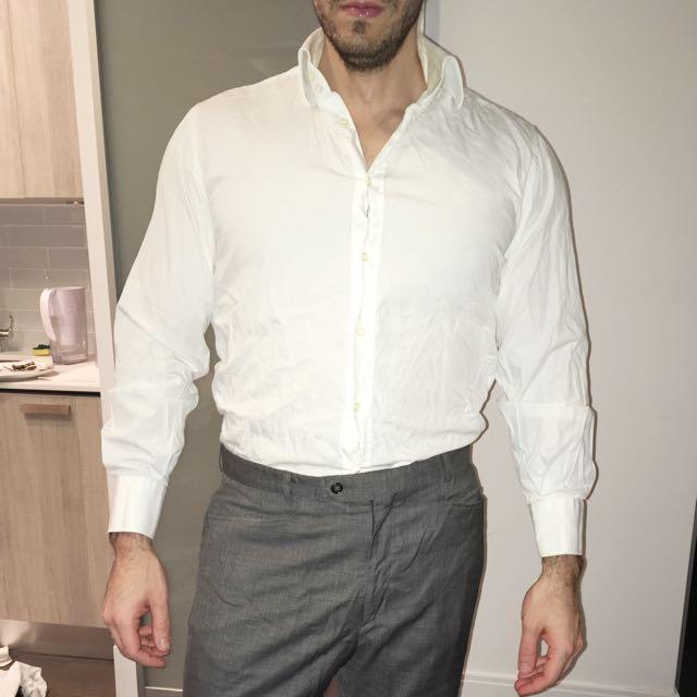 Italian Made White Dress shirt