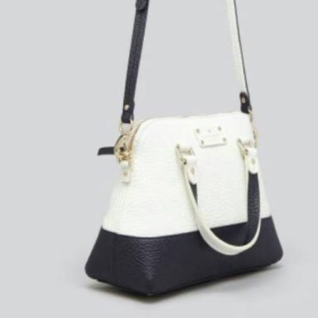 Kate Spade Grove Court Maise Satchel in Colourblock White/Navy