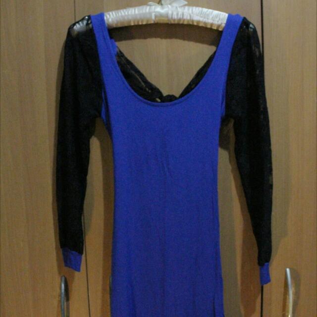 Lacy Blue Dress