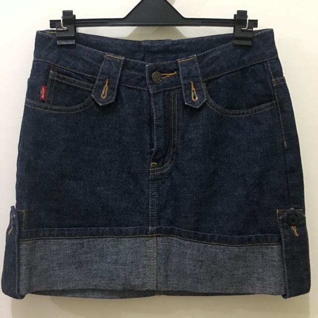 Levi's Dark Denim Mini Skirt