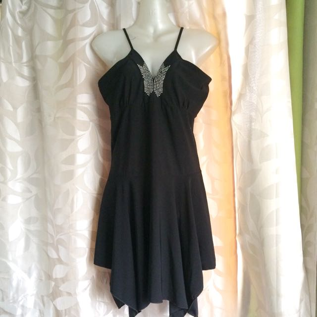 Little Black Dress With Butterfly Details