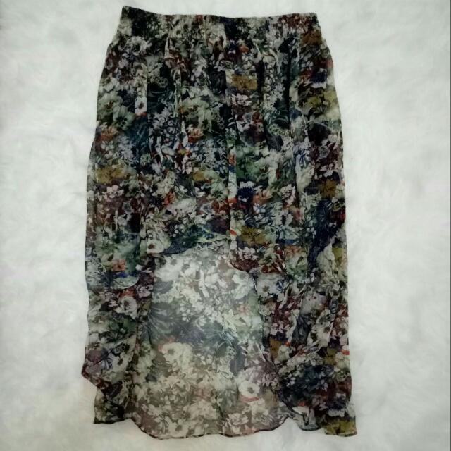 Logo Flowery Skirt