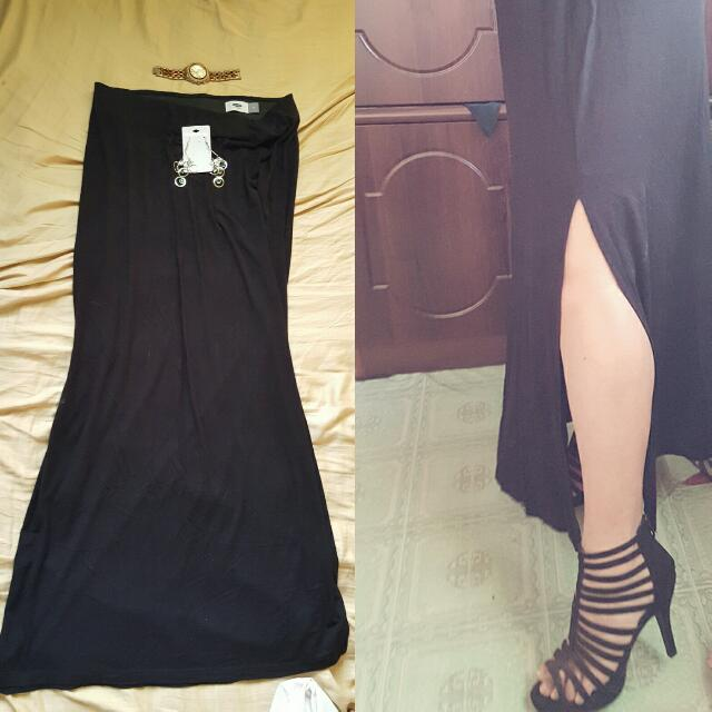 Long Skirt With Slit (Old Navy)