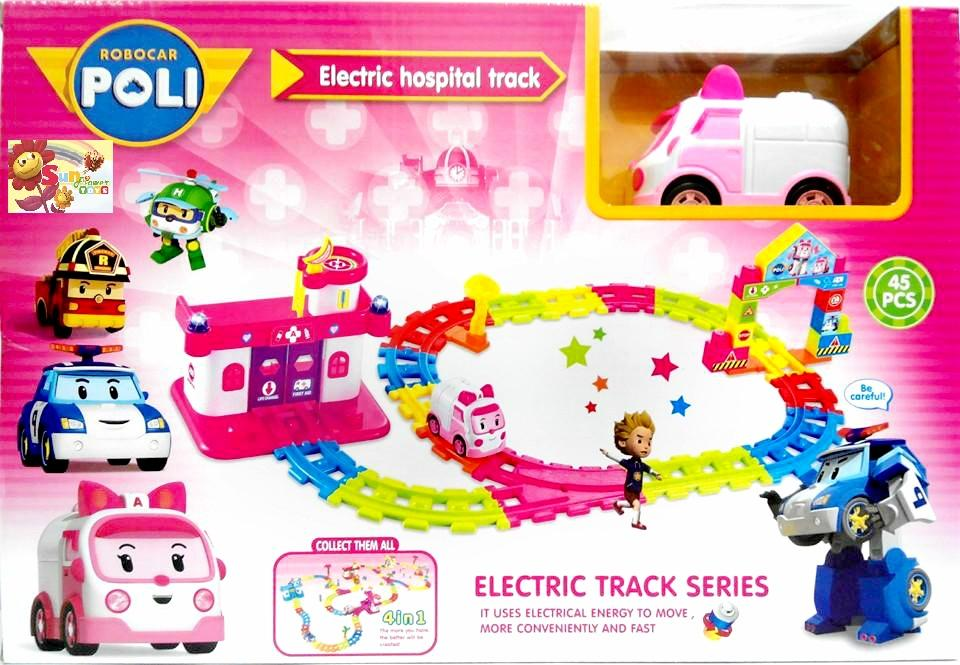 Mainan Anak Robocar Poli Amber Ambulance Car Electric Track Mobil Pink, Babies & Kids, Toys & Walkers on Carousell