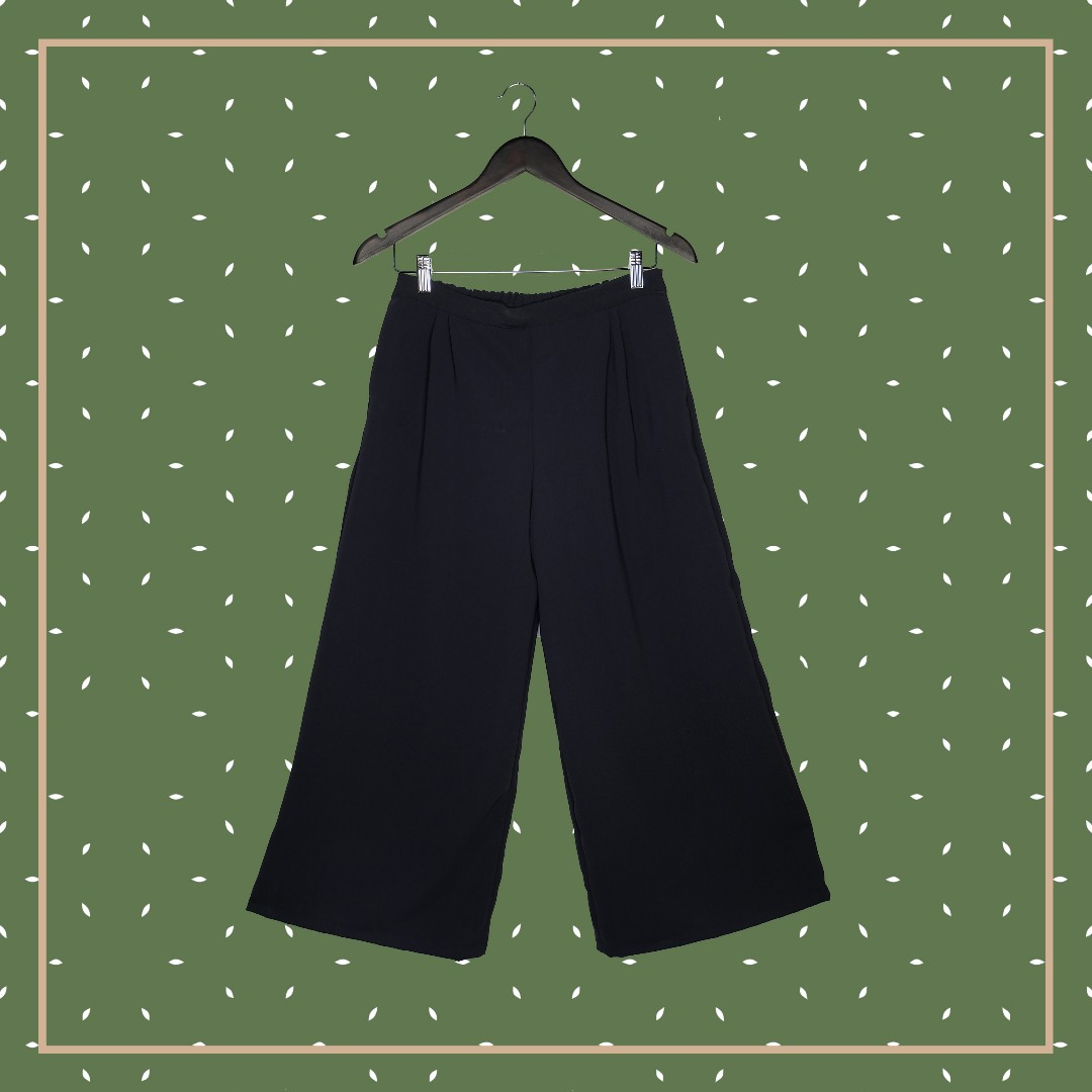 Mid Waist Wide Pants