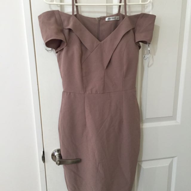 Midi Taupe Dress