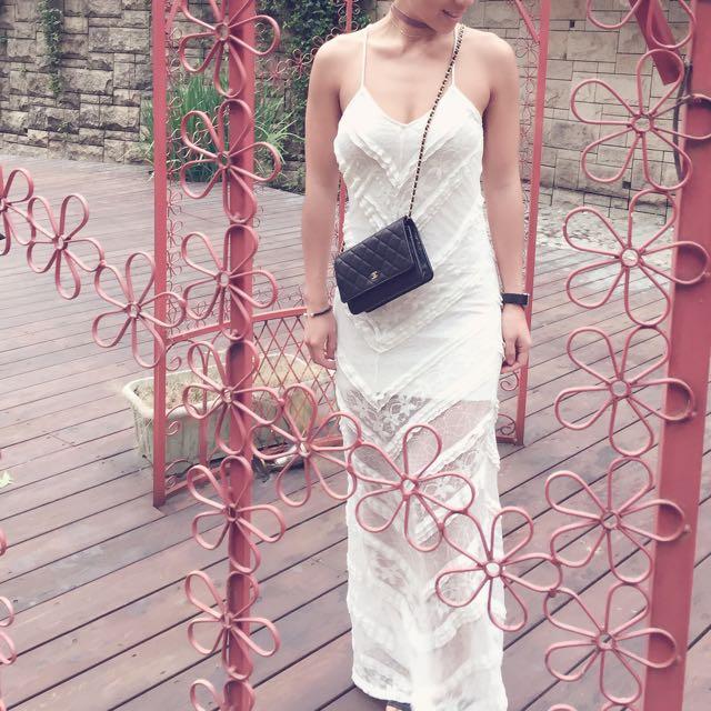 美國Minkpink蕾絲修身伴娘洋裝