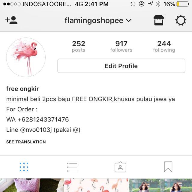 New Arrival Instagram : @flamingoshopee